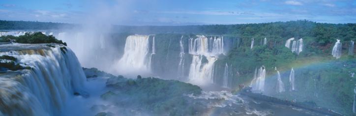 虹「Brazil, Salto Floriano, rainbow over Iguazu Waterfalls in Parque Nacional Iguazu」:スマホ壁紙(16)