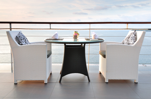 Table For Two「Sea View Dinning Table for two at Sunset」:スマホ壁紙(7)
