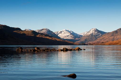 スコットランド文化「ロック Arklet 、トロサックス、スコットランド。」:スマホ壁紙(7)
