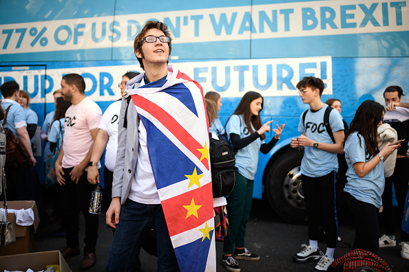 Brexit「Our Future, Our Choice Youth Movement For A People's Vote Lobby Parliament」:写真・画像(8)[壁紙.com]