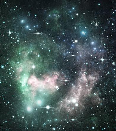 星空「グリーンスペース「galaxy」:スマホ壁紙(5)