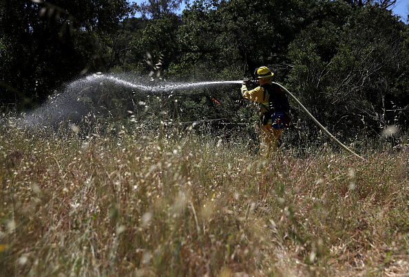 Cupertino「Fire Fighters Train In California Ahead Of Wildfire Season」:写真・画像(19)[壁紙.com]