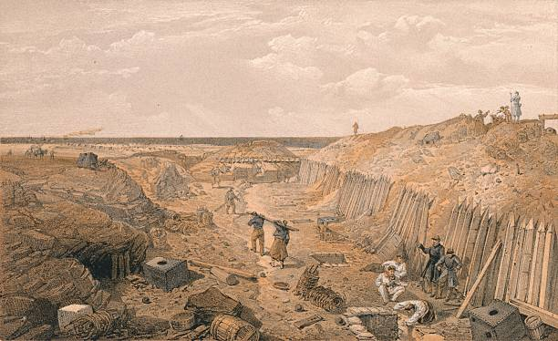 Ditch of the Bastion Du Mat, 1856:ニュース(壁紙.com)