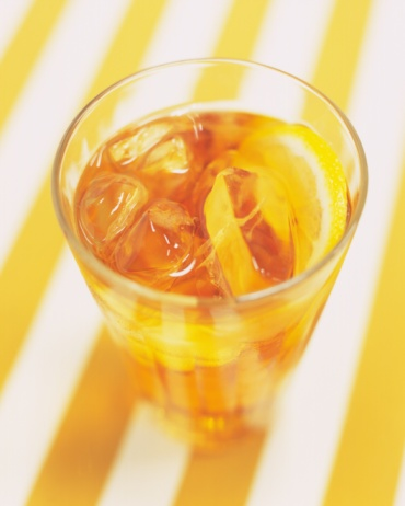 Ice Tea「Ice Lemon Tea, High Angle View, Full Frame」:スマホ壁紙(2)