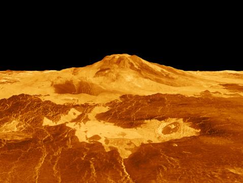 Lava「3D Perspective View of Maat Mons on Venus.」:スマホ壁紙(12)