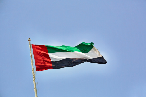 Pole「Flying Flag of United Arab Emirates」:スマホ壁紙(7)