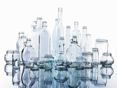 Transparent「Collection of various glass bottles and jars」:スマホ壁紙(16)