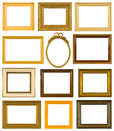 Baroque Style「Collection of twelve antique picture frames」:スマホ壁紙(9)