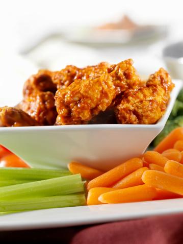 Chicken Wing「Buffalo Wings with Fresh Vegetables」:スマホ壁紙(2)