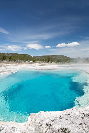 透明「Sapphire Pool hot spring」:スマホ壁紙(16)