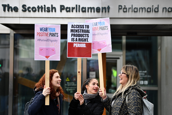 Scotland「Rally Outside Parliament To Support Free Provision Of Period Products In Scotland」:写真・画像(14)[壁紙.com]