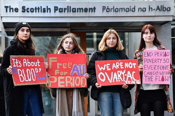 Scotland「Rally Outside Parliament To Support Free Provision Of Period Products In Scotland」:写真・画像(4)[壁紙.com]