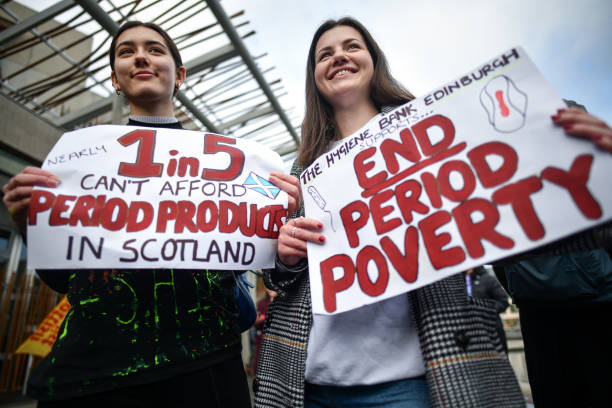Rally Outside Parliament To Support Free Provision Of Period Products In Scotland:ニュース(壁紙.com)