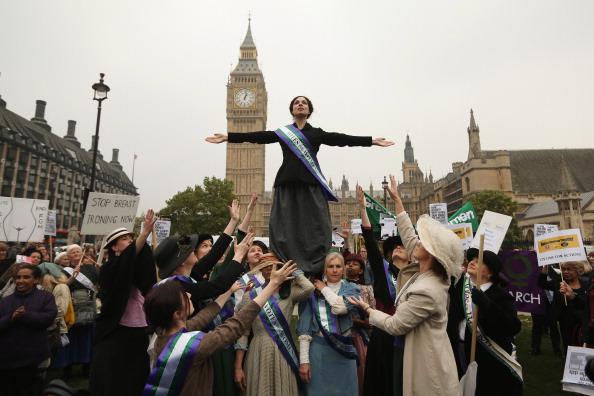 Activist「Granddaughter Of Emmeline Pankhurst, Dr Helen Pankhurst Leads A Lobby Of Parliament On The Erosion Of Women's Rights」:写真・画像(8)[壁紙.com]