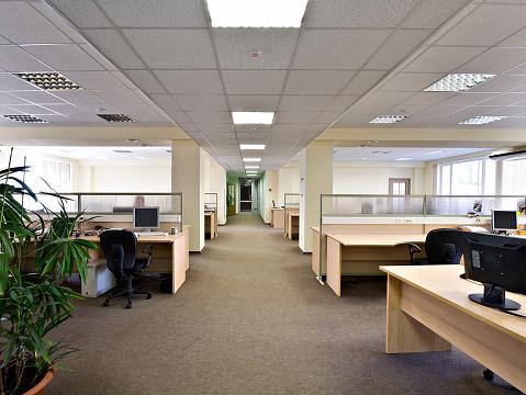 屋内「オフィススペース」:スマホ壁紙(19)