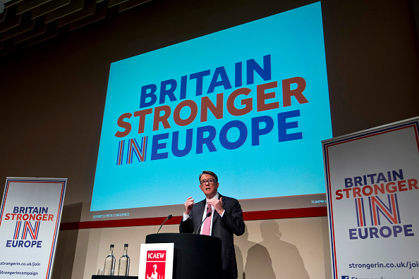 Keynote Speech「Lord Mandelson Delivers Keynote Speech On EU Trade And The Brexit」:写真・画像(13)[壁紙.com]