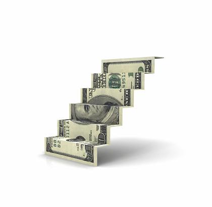 American One Hundred Dollar Bill「Dollar Stair」:スマホ壁紙(3)