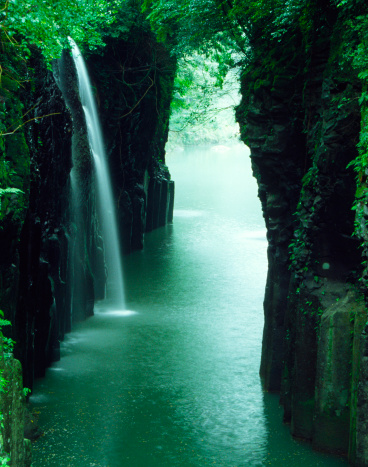 Satoyama - Scenery「waterfall of the ravine in Japan」:スマホ壁紙(19)