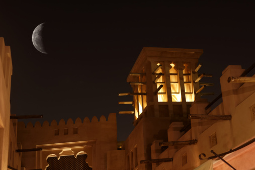 Ancient Civilization「Arabic Wind Tower in the night」:スマホ壁紙(18)