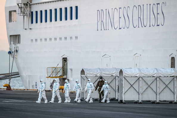 Infectious Disease「Diamond Princess Cruise Ship Remains Quarantined As Coronavirus Cases Grow」:写真・画像(1)[壁紙.com]
