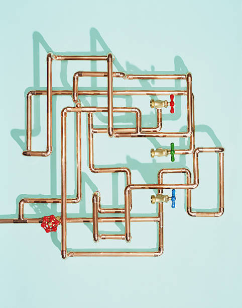 Tangle of water pipes and taps:スマホ壁紙(壁紙.com)