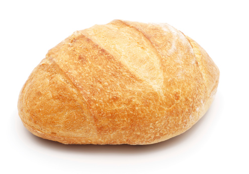 Bun - Bread「Loaf of bread isolated on white」:スマホ壁紙(1)