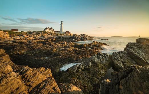 Beacon「Portland Head Lighthouse, Maine, USA at sunrise」:スマホ壁紙(7)