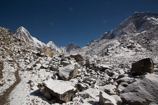 Khumbu「The walking track, Lobuche, Everest Base Camp Trek, Nepal」:スマホ壁紙(16)
