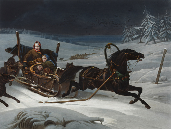 Sled「Sleigh Of A Russian Family Pursued By Wolves」:写真・画像(14)[壁紙.com]