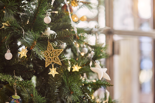 Love - Emotion「Detail of Christmas tree with copy space.」:スマホ壁紙(6)