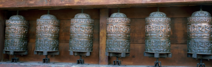 Khumbu「Detail of copper prayer wheels at Namche Bazaar. Namche Bazaar, Everest National Park, Khumbu, Nepal.」:スマホ壁紙(11)