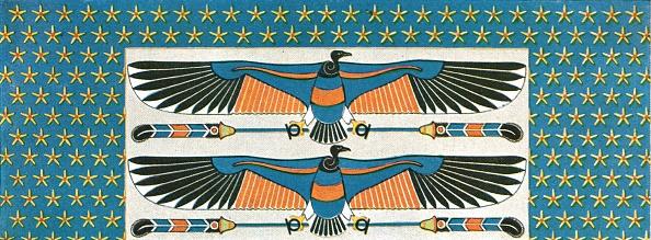 Ceiling「Detail Of Ceiling Painting In The Tomb Of Bekenranef At Sakkara」:写真・画像(13)[壁紙.com]