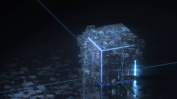 Blockchain technology concept:スマホ壁紙(壁紙.com)