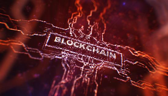 Bitcoin「Blockchain concept」:スマホ壁紙(1)