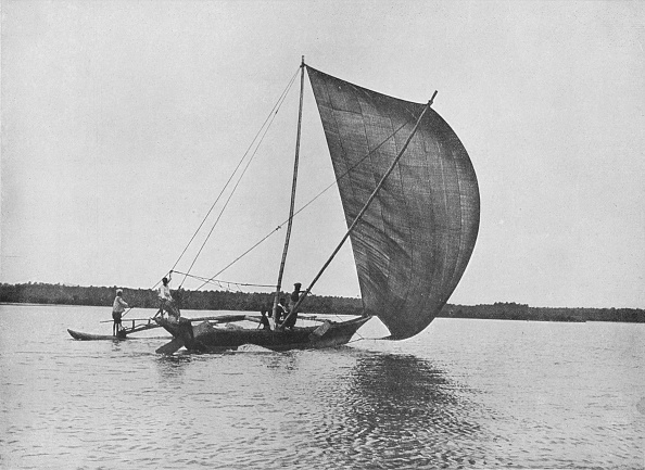 Negombo「'Outrigger Canoe in Full Sail on Negombo Lake', c1890,」:写真・画像(6)[壁紙.com]