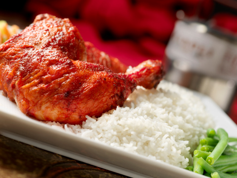 Chicken Tandoori「Tandoori Chicken with Basmati Rice」:スマホ壁紙(2)