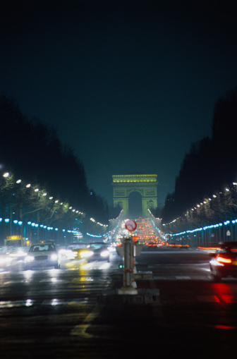 Arc de Triomphe - Paris「Champs Elysees at Night」:スマホ壁紙(2)