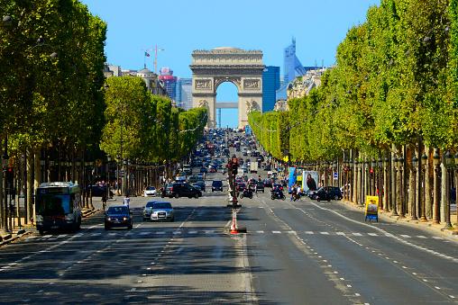 Arc de Triomphe - Paris「Champs Elysees Street, Paris」:スマホ壁紙(3)