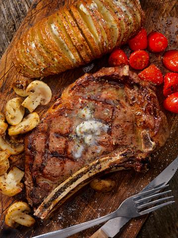 Scalloped - Pattern「BBQ Prime Rib steak with a Hasselback Potato」:スマホ壁紙(11)
