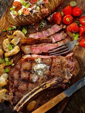 Scalloped - Pattern「BBQ Prime Rib steak with a Hasselback Potato」:スマホ壁紙(13)