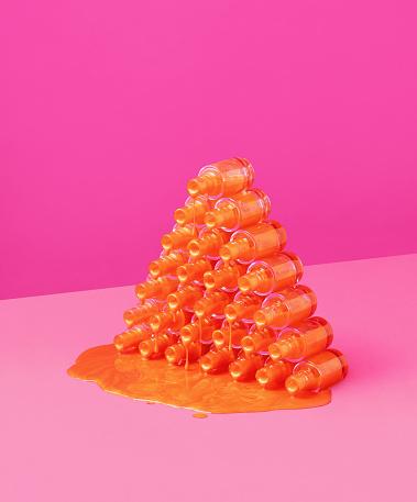 Pyramid Shape「Nail Polish Pyramid」:スマホ壁紙(2)