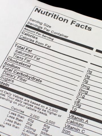 Fat - Nutrient「Nutrition Facts」:スマホ壁紙(13)