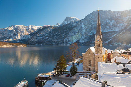 Austria「Hallstatt, Austria, in Winter」:スマホ壁紙(3)