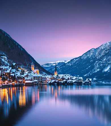 Salzkammergut「Hallstatt At Sunset」:スマホ壁紙(3)