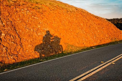 Motorcycle「Shadow of Motorcycle rider」:スマホ壁紙(1)