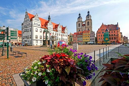 Paving Stone「Market Square, Lutherstadt Wittenberg, Germany」:スマホ壁紙(5)