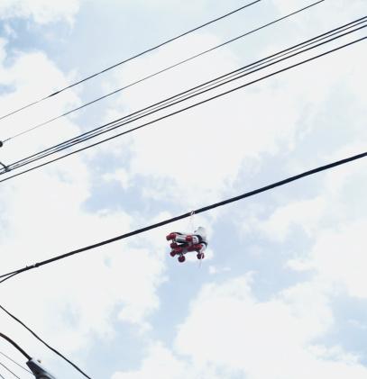 Roller skate「Rollerskates on Telephone Line」:スマホ壁紙(17)