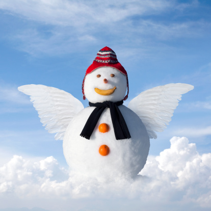 雪だるま「Snowangel ます。スノーマン、手羽肉をご堪能ください。」:スマホ壁紙(6)