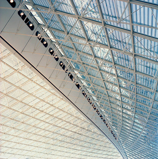 Glass ceiling and girders:スマホ壁紙(壁紙.com)