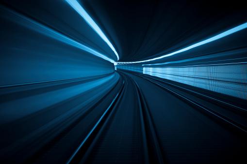 Railway「Tunnel speed motion light trails」:スマホ壁紙(16)